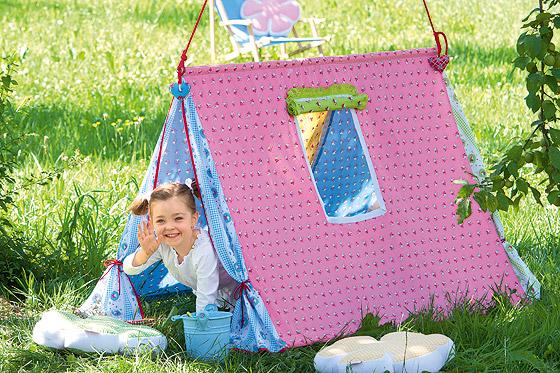 Spielzelt für Kinder selbst bauen - Familie.de
