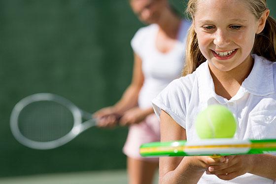 Tennistraining mit Kindern