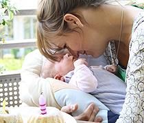 Mama Stefanie und Baby Sophia