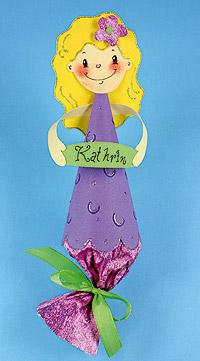Anleitung für die Tischkarte für die Meerjungfrauen-Party