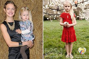 Natalia Vodianova und Tochter Neva