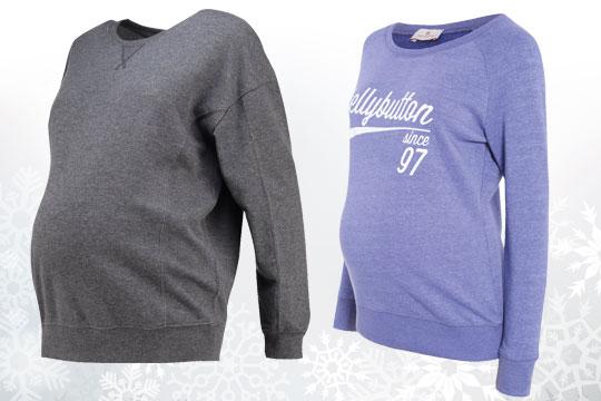 Umstandsmode für den Winter 2016: Sweatshirts