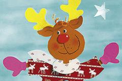 """Weihnachts-Fensterbilder """"Elch auf Schlittschuhen"""" basteln"""