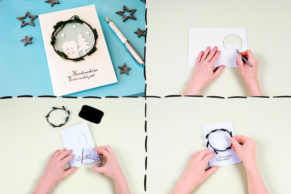 Attraktiv Edle Weihnachtskarten Basteln Ideen Von Weihnachtskarte