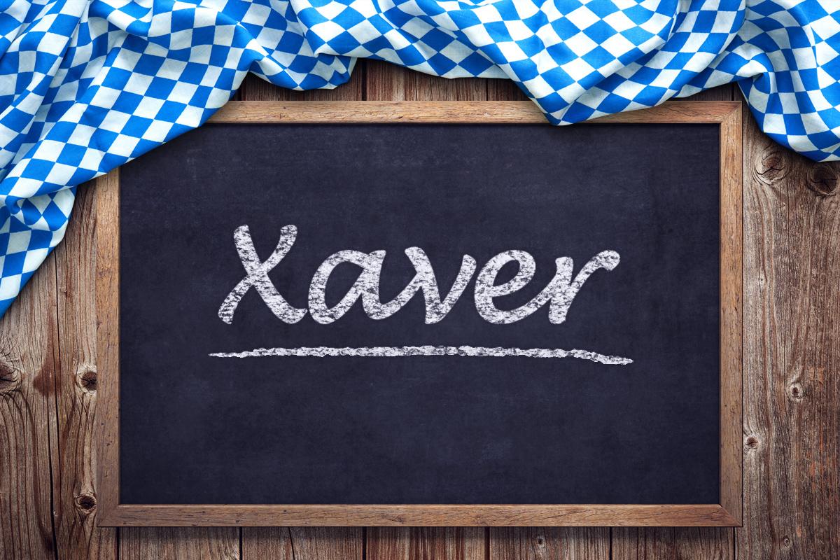 Bayerische Kindernamen: Xaver