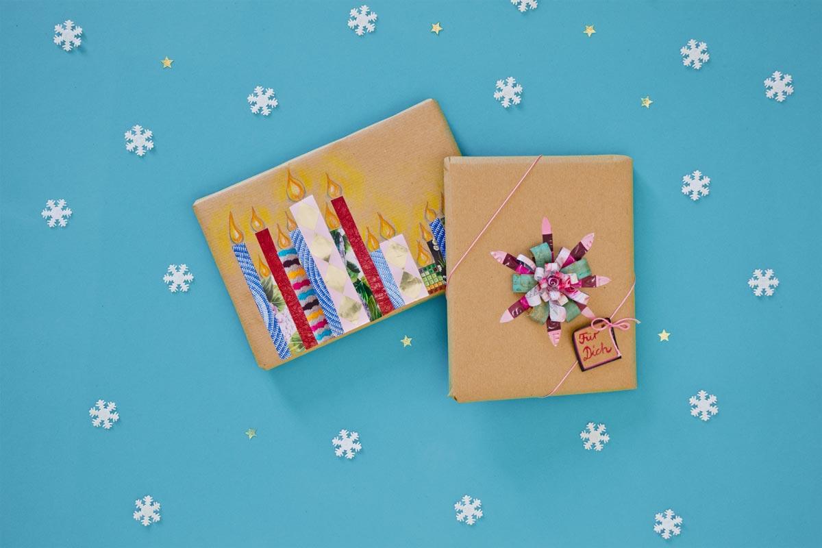 Geschenkverpackungen: Farbiges Klebeband
