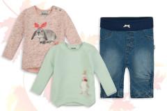 Babymode Herbst 2015: Zwei Mädchen-Shirts und Jeans von Sanetta