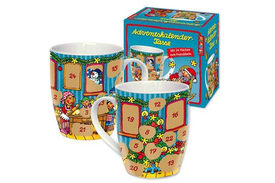 Adventskalender-Tasse zum Rubbeln