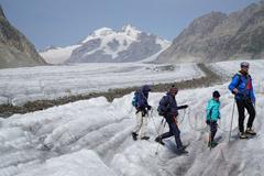 Mit Kindern auf den Aletschgletscher