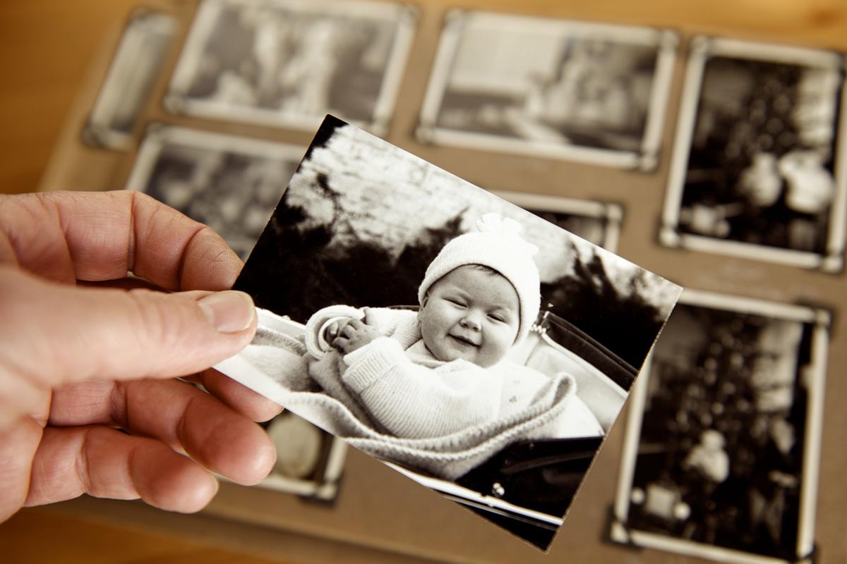 Alte Vornamen: vintage Babybild
