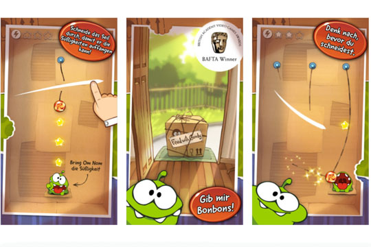 Apps für Kinder: Cut the Rope