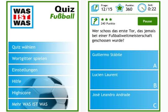 Apps für Kinder: Fußball-Quiz von Was ist was?