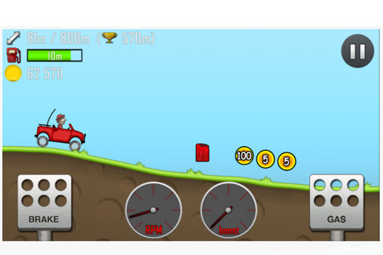 Apps für Kinder: Hill Racing