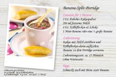 Für süße Frühstücker: Banana-Split-Porridge