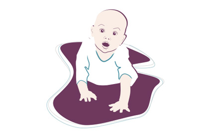 Baby-Entwicklung: 9. Monat