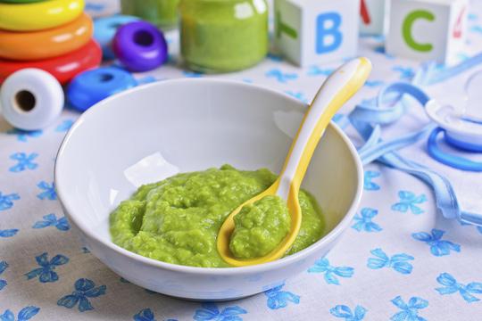 Brokkoli-Getreide-Brei