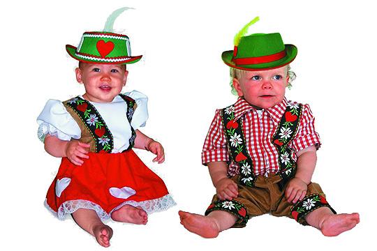 Babykostüm: Heidi und Ziegenpeter