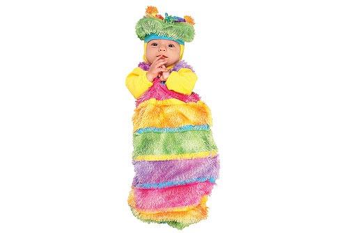 Faschingskostüme fürs Baby: Regenbogenwurm