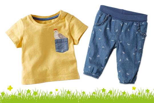 Baby T-Shirt mit Tiertasche