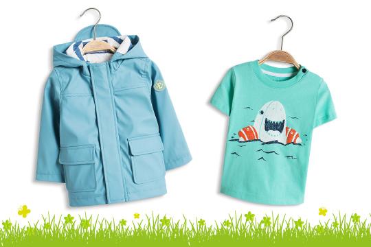 Beschichtete Baby-Regenjacke von Esprit
