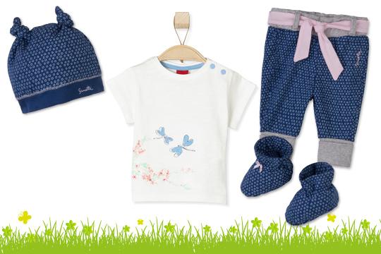 Hose, Mütze und Schuhe von Sanetta