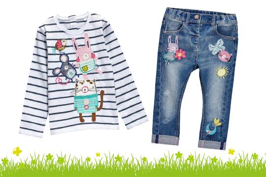 Next Mädchen-Jeans mit Aufnähern