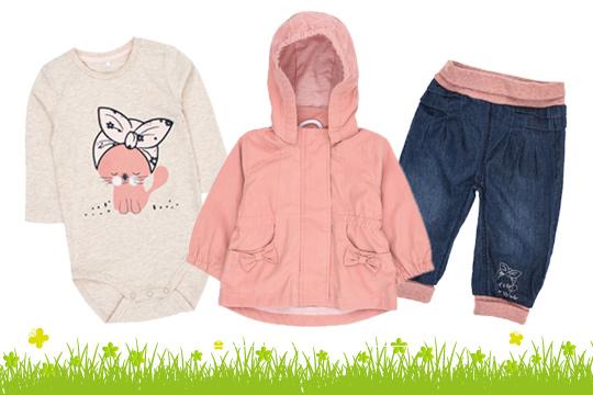 Outfit mit Kätzchen für Mädchen