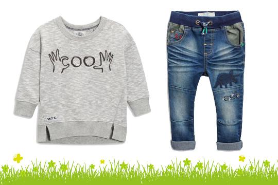 Jersey-Jeans mit Dino