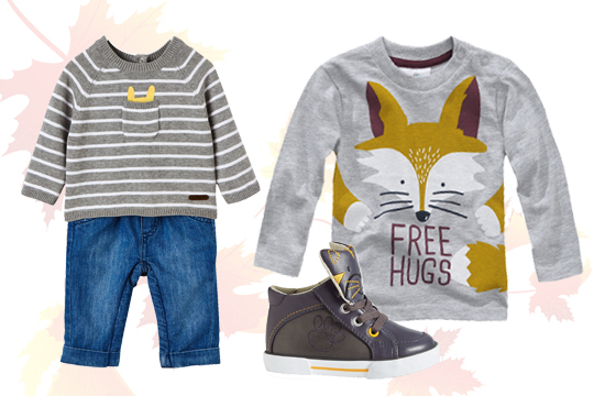 Baby-Langarmshirt mit Fuchs