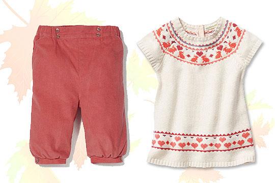 Babymode Herbst 2014: Trendfarbe Rot für Mädchen
