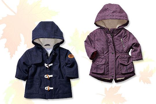 Babymode Herbst 2014: Babyjacken für stürmisches Herbstwetter