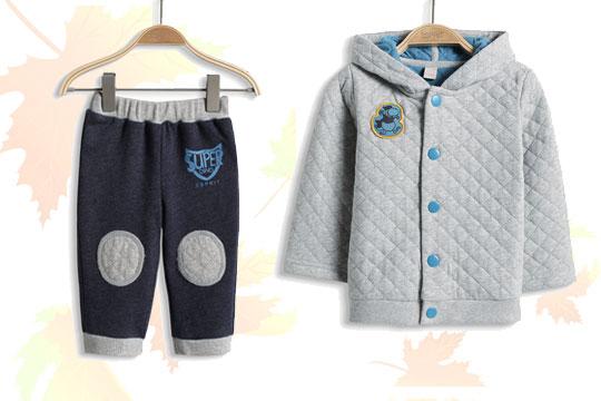 Babymode Herbst 2014: Karostepp in Grau für Jungs