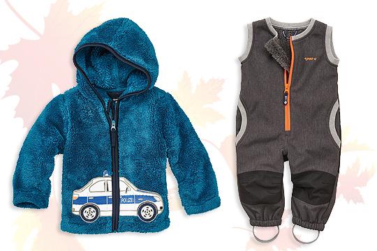 Kinder-Kuschel-Jacke und Softshell-Latzhose