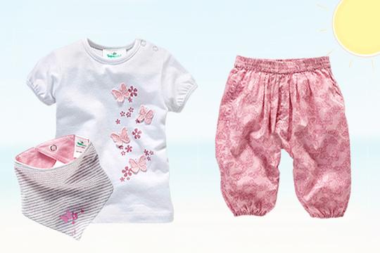 Bio-Baumwolle für Sommerbabys