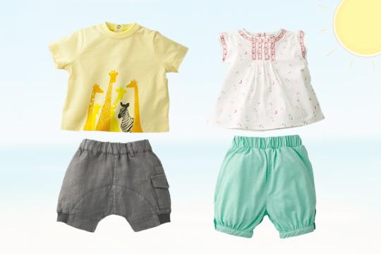 Baby-Sommer-Sets von Vertbaudet