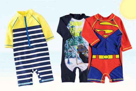 Badeanzüge und Surfanzug für Babys