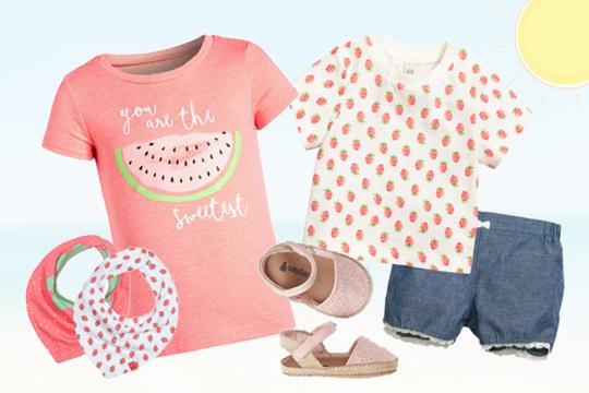 Süße Früchte für Baby-Mädchen