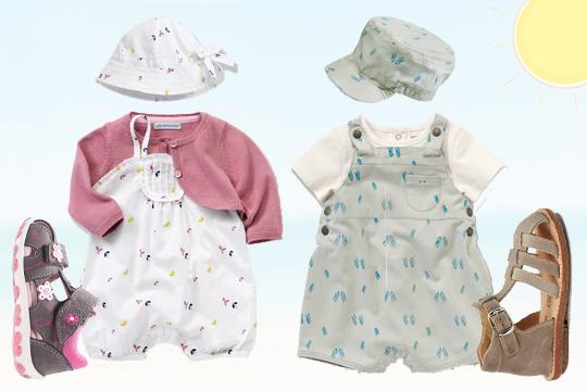 3-teilige Baby-Sets für den Sommer von vertbaudet