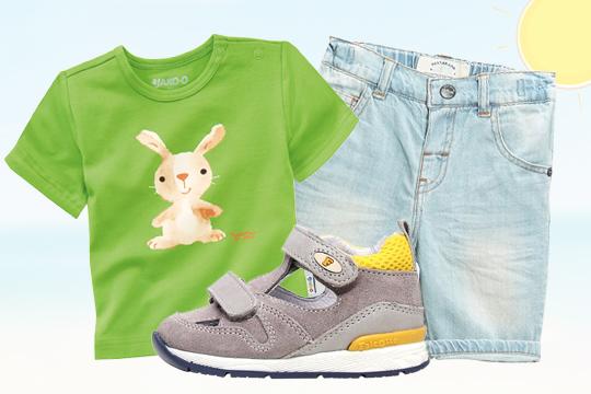 Baby-T-Shirt mit Aquarell-Motiv