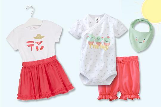 Sommerliche Outfits für Baby-Mädchen