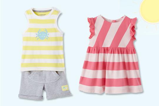 Trägershirt, Shorts und Kleid von Vertbaudet