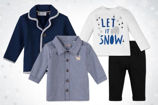 Baby-Hemd und -Blazer von Sanetta