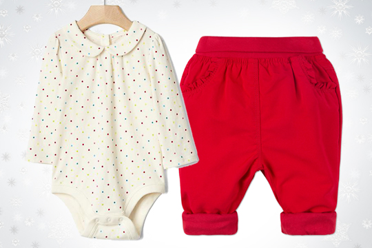 Rote Baby-Thermohose von C&A