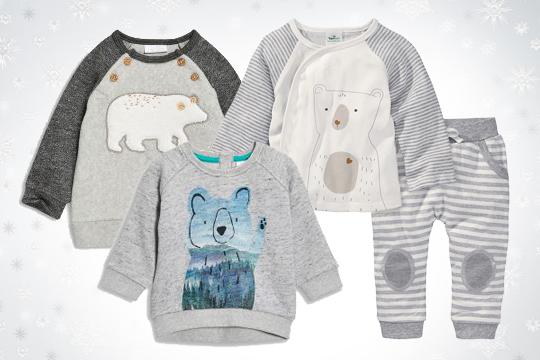 Eisbär-Motiv auf bequemer Babymode