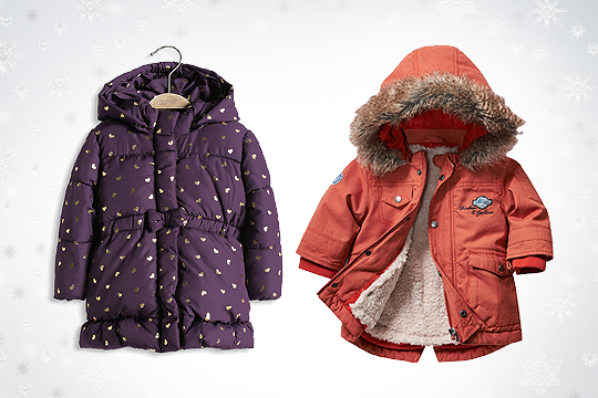 Babymode Winter 2014: Warme Winterjacken für Babys