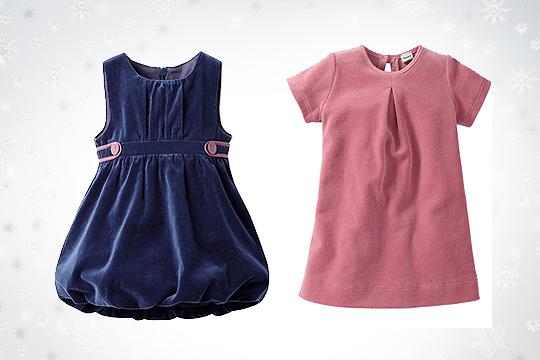 Babymode Winter 2014: Festliche Babykleider aus Samt und Nicki