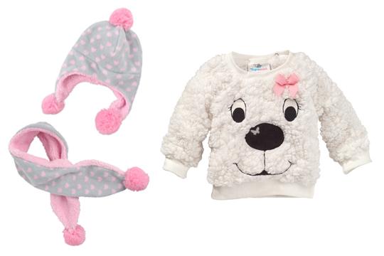 c8b571f52ae4 Wintermode Babys 2015  Baby-Pullover aus Plüsch mit Hundemotiv ...