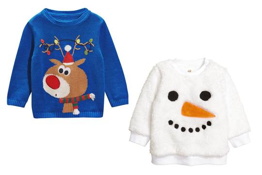 Pullover mit witzigen Weihnachtsmotiven