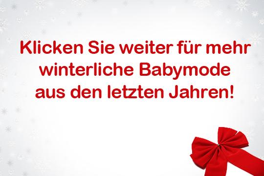 Noch mehr Wintermode für Babys
