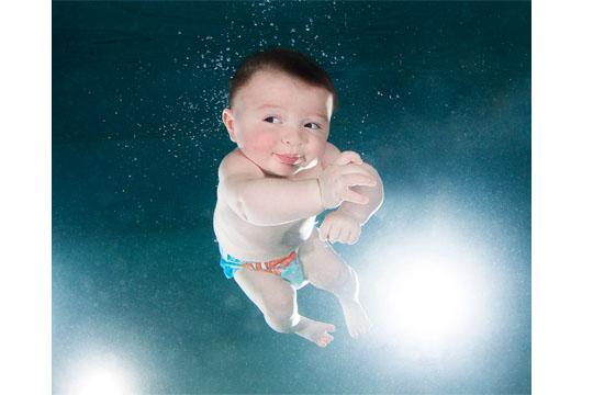 Babys unter Wasser: Michael R.